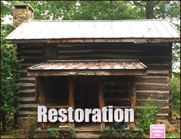 Log Cabin Restoration  Spartanburg County,  South Carolina