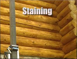 Log Home Staining  Spartanburg County,  South Carolina